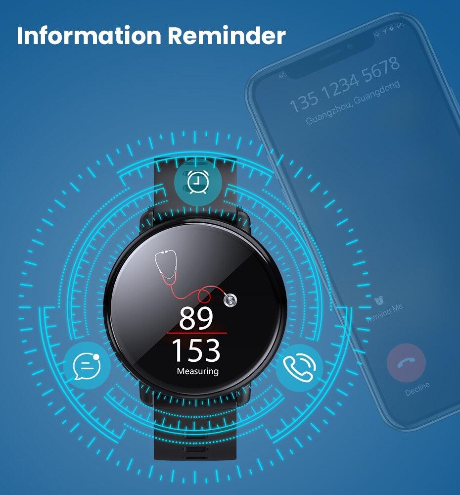 Virtoba A1 Bluetooth Smart Watch Men Women Full Touch Screen Activity Fitness Tracker Heart Rate Monitor 3D UI Smartwatch NEW 8