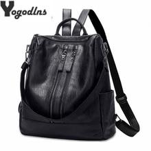 Mochila de cuero de Pu para mujeres con cremallera mochila de escuela para estudiantes para adolescentes niñas grandes bolsas de viaje informales mochila femenina