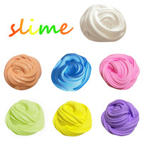 DropShipping Education Toys Mud Fluffy Floam Slime Putty Scented Stress Relief No Borax Kid Toy Clay