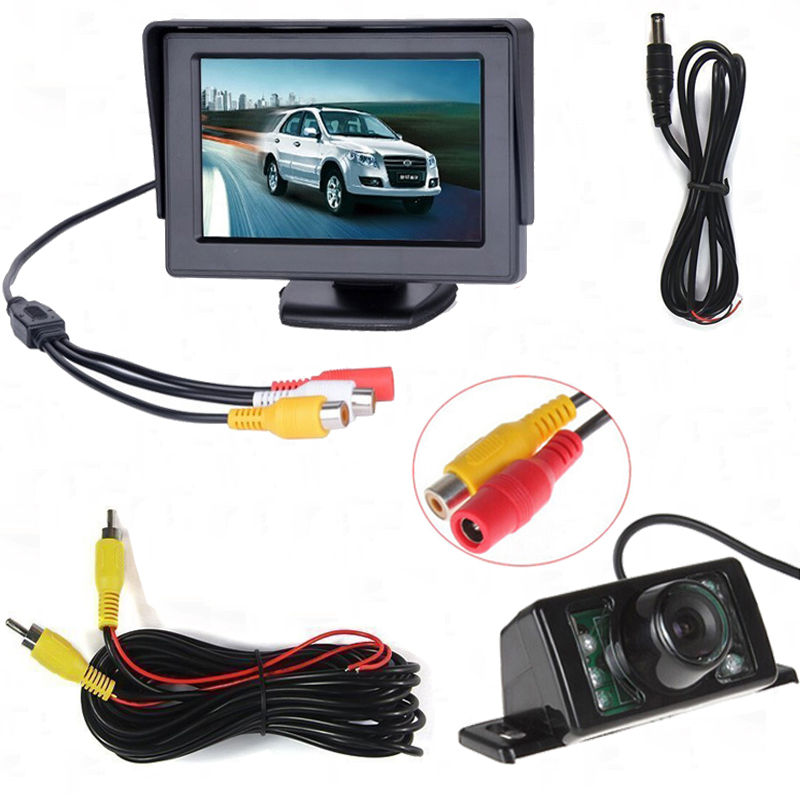 Auto Parking Assistance 4.3 Inch TFT LCD Car Rearview Mirror Monitor With 7 IR Night Vis ...