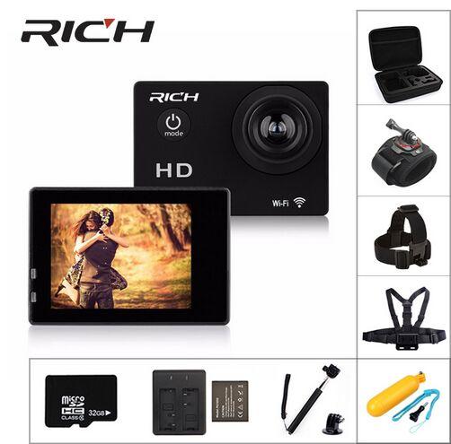"""Caméra sport d'action Wifi HD 1080 p 2.0 """"sous-marine 30 m étanche sport Dving Mini caméra casque caméscope"""