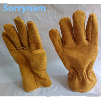 Cut-proof welding gloves, first layer, leather gloves, short protective gloves, factory direct welder, cashmere gloves gloves northland gloves