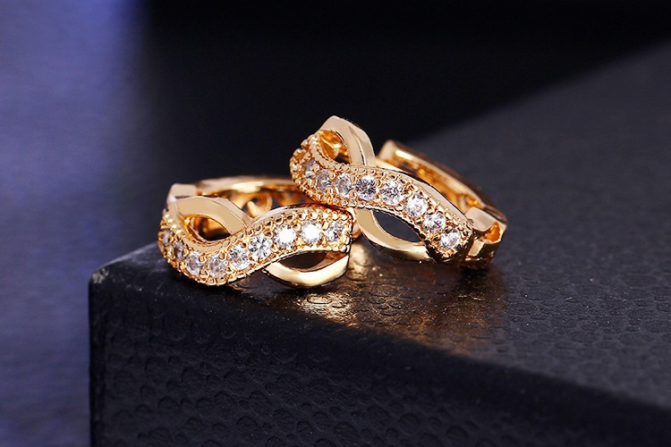 Luxury Charm Infinity Earrings
