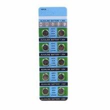 OOLAPR10pcs/pack AG13 LR44 357 Button Batteries R44 A76 SR1154 LR1154 Cell Coin Alkaline Battery 1.55V G13 For Watch Toys Remote