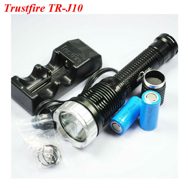 Tees Responsible Trustfire Tr-j10 Flashlight Sst-t90 5 Mode 2250 Lm White Led Memory Flashlight+2*25500 Batteries+1*110~240v Power Adapter Tops & Tees