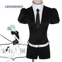 Hot Anime Houseki No Kuni Phosphophyllite Jumpsuits Uniform Land Of The Lustrous Bort Diamond Cosplay Costumes