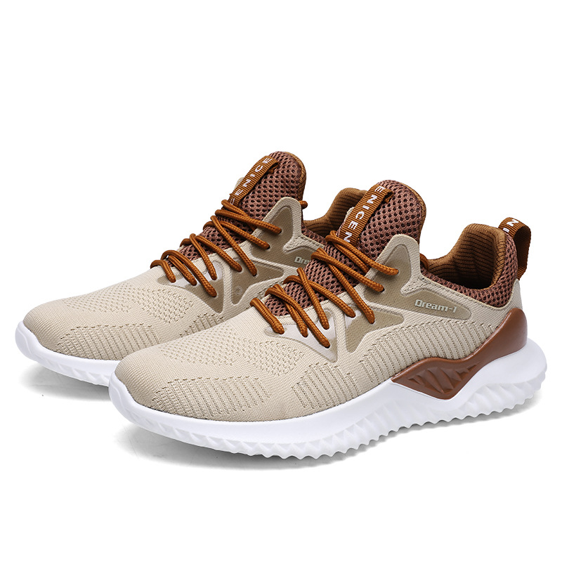 Tennis-Shoes Athletic-Trainers Walking-Sneakers Sports New Outdoor Lace-Up Men Four-Seasons