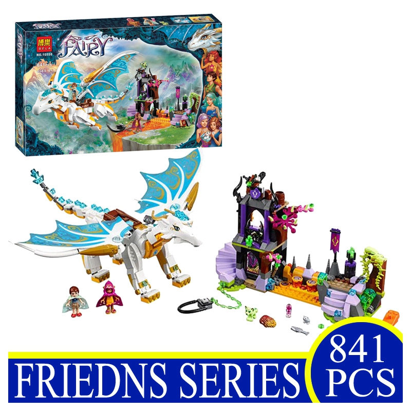 Elves 10550 841pcs White Dragon Elves Long After The Rescue Action Building Blocks Bricks Children Gifts Compatible LEPIN 41179 chris wormell george and the dragon