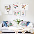 Vintage Retro Animal Deer Head Skull Feather Dream Catcher A4 Art Prints Posters Wall Picture Canvas Painting Living Room Decor