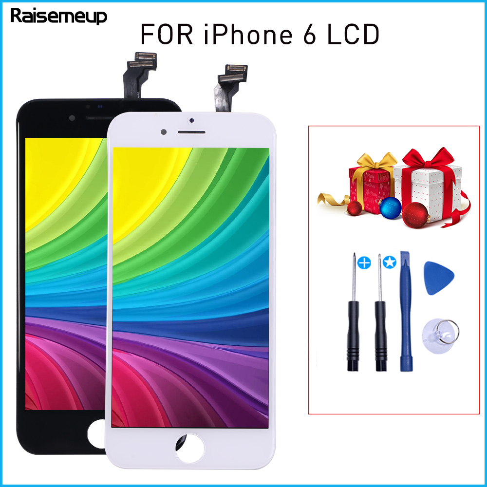 1334*750 LCD Display For <font><b>iPhone</b></font> <font><b>6</b></font> LCD Display Assembly Replacement For <font><b>iPhone</b></font> <font><b>6</b></font> A1549 <font><b>A1586</b></font> A1589 LCD Display FREE GIFT image