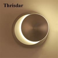 Thrisdar 5W Creative Round LED Wall Lamp 360 Degree Rotating Modern Simple Bedside Aisle Corridor Porch