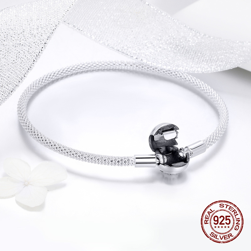 Image 5 - fit original Pandora beads pendant making woman authentic 100%  925 sterling silver charm bracelet Snake bracelet jewelryCharm  Bracelets