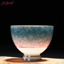 Jia-gui luo Chinese ceramics Jingdezhen tea set cup ceramic pastel technology beautiful generous
