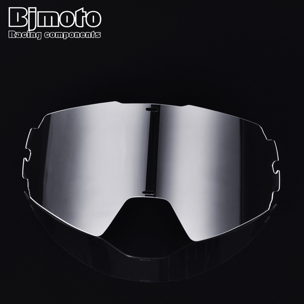 BJMOTO Motorcycle Helmet Glasses Glass MX Motocross Dirt Bike Spectacles Bike Goggles Clear Color Lens Replacement Goggles Film