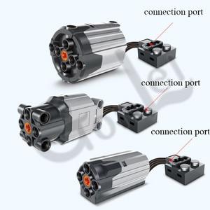 Image 4 - טכני חשמלי PF חלקי בינוני XL גדול מנועים הארכת כבל היגוי אלכס קרן הילוך מסגרת 64179 MOC בריק בלוקים סט התאגרף