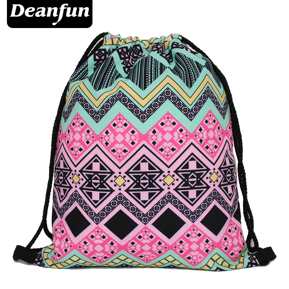 Deanfun escolar backpack 3D printing travel softback man women mochila feminina love weed drawstring bag mens backpacks s49 цены
