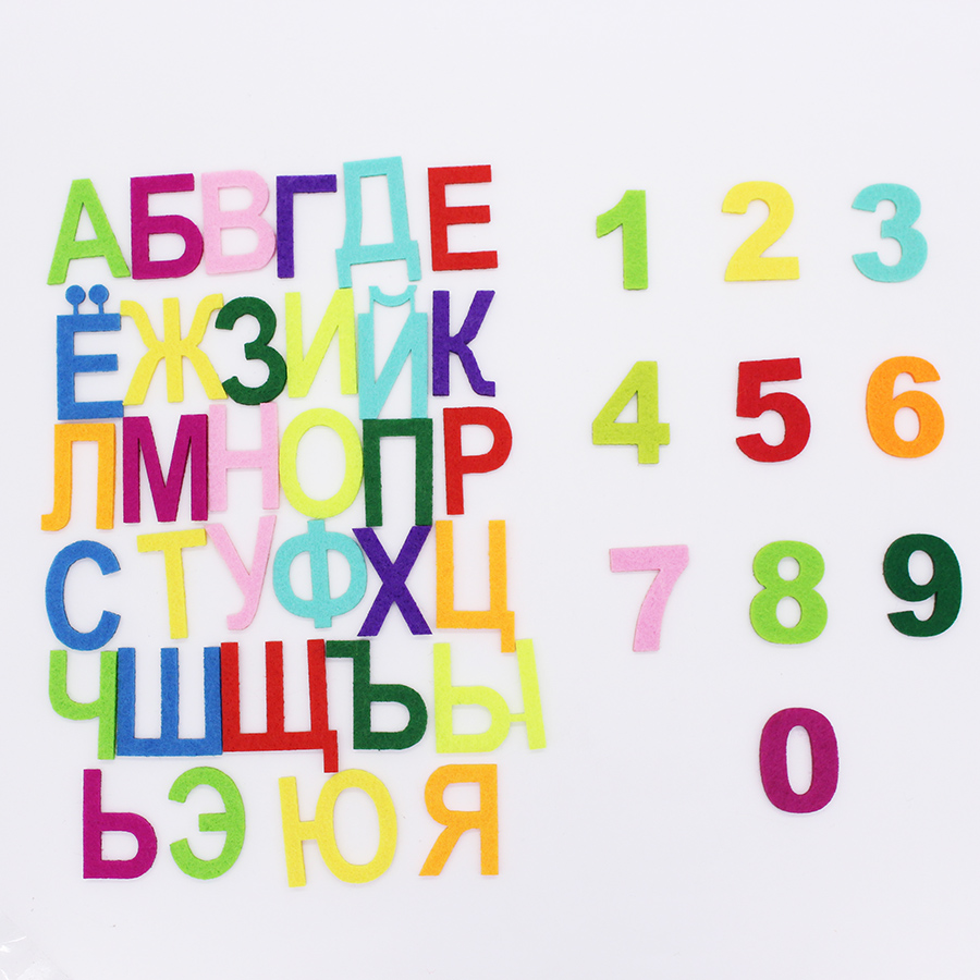 Rainbow Felt Alphabet Letters And Number For Sewing Felts Craft