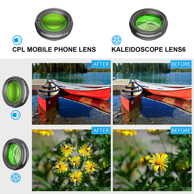 APEXEL Optic Mobile Phone Camera Lens 16x Telescope telephoto lens with tripod+ 5in1 fisheye wide for Samsung Huawei all phones 3