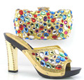 New Arrival Italian Shoes With Matching Bags Set For Wedding African Women Shoes And Bag To Match Fashion Sandal TT02