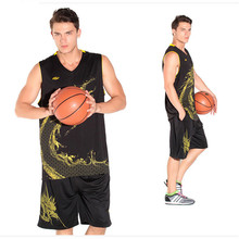 5 Colors New Brands Men s Exquisite pattern jersey Set sports shirt training basketball jersey suit