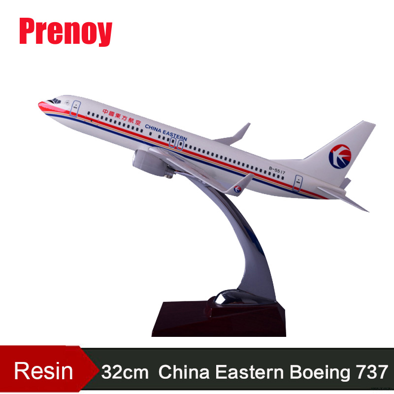 32cm Aircraft Model B737 China Eastern Airlines Resin Boeing 737 Airplane Airbus Model Chinese Eastern Airways Model Gift Toys aeroclassics china eastern airlines b 6083 1 400 a330 300 commercial jetliners plane model hobby