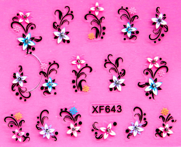 82bdb4b01 2018 New Arrival Promotion Nails Manicure 2 Sheet Xf Nail Stickers 3d Bride  A Must- Carved Hand Was White And Xf643