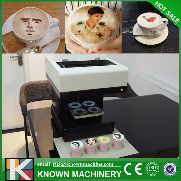 4 cups coffee printing machine DIY Dessert /Coffee Printer Digital Printing Machine with Edible Ink стоимость
