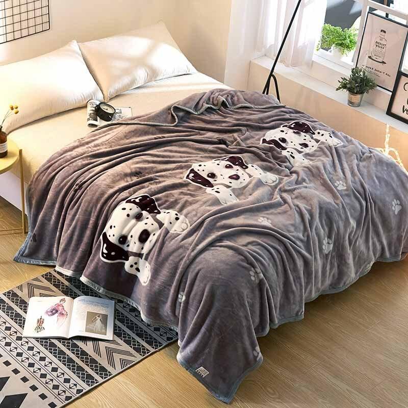queen size warm plaid coral fleece flannel fabric blanket baby throw plaid cartoon winter qulit COVET bedsheet winter GIFT