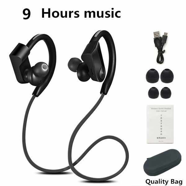 Earphone Earhook Sport Bluetooth Earphone Headset Ringan Bass Lari Headphone untuk Smart Earbud untuk iPhone Android