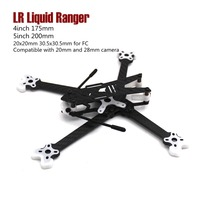 LR Liquid Ranger 4inch 175mm and 5inch 200mm compatible with 20mm and 28mm camera with TRU printing quadcopter frame drone kit