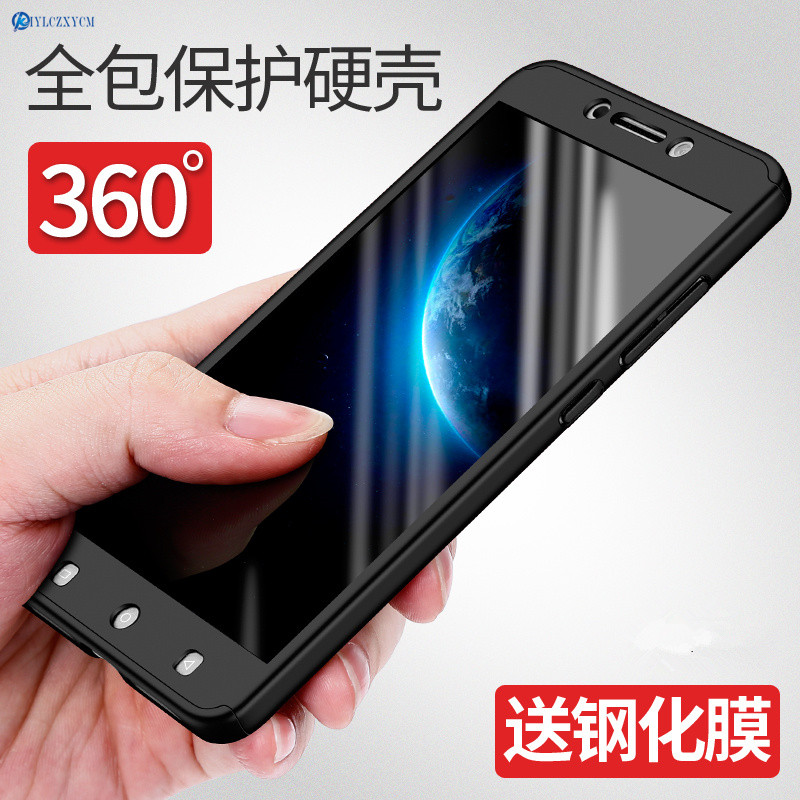 KIYLCZXYCM 360 Degree Coverage Full Protection Case For Letv LeEco Le 2 X620 X527/Le2 Pro Case Luxury Hard PC Cover+Clear Glass