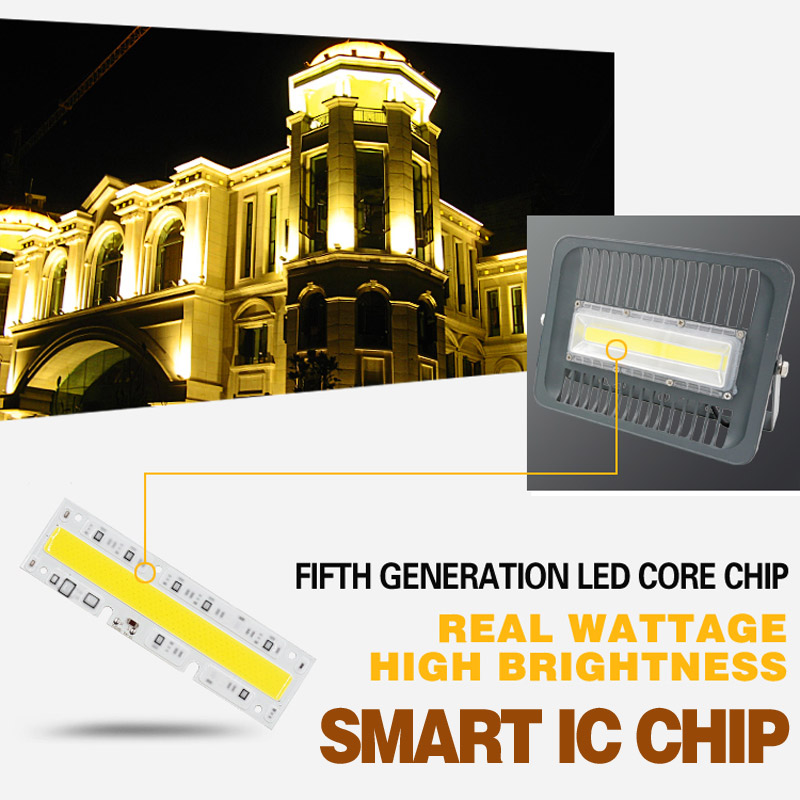 Image 2 - LED COB Flood Light 30W 50W 100W  IP65 AC 220V Smart IC COB Spotlight Outdoor Wall Lamp Cold White Warm White Ship from CN ES RU-in Floodlights from Lights & Lighting