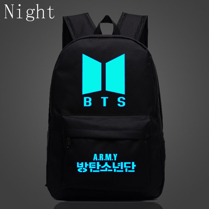 2017 Kpop Bts Bangtan Boys Luminous Backpacks New Logo