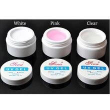 3 Colors Clear Poly UV Gel Builder Nail Tips 15ML Extension Gel Building Crystal False Nails Gels For Nail Art Polish Polygel #G