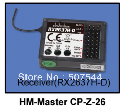 Walkera Master CP parts Receiver RX2637H-D HM-Master CP-Z-26 walkera master cp parts free shipping with tracking walkera hm f450 z 45 v450d03 brushless speed controller walkera v450d03 parts free shipping with tracking
