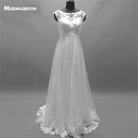2017 Real Photos Elegant Beach Lace Style Summer Wedding Dresses Ribbon Bow New Arrival Bridal Gown