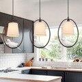 Moderne weiß tuch lampenschirm vogel Anhänger Lichter kreative Kunst neuheit Indoor vogelkäfig Hängen beleuchtung anhänger lampe leuchte|Pendelleuchten|Licht & Beleuchtung -