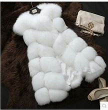 S-xxxxl импорт лисий высококачественный размер: прибытие меховой искусственный мех длинный теплая