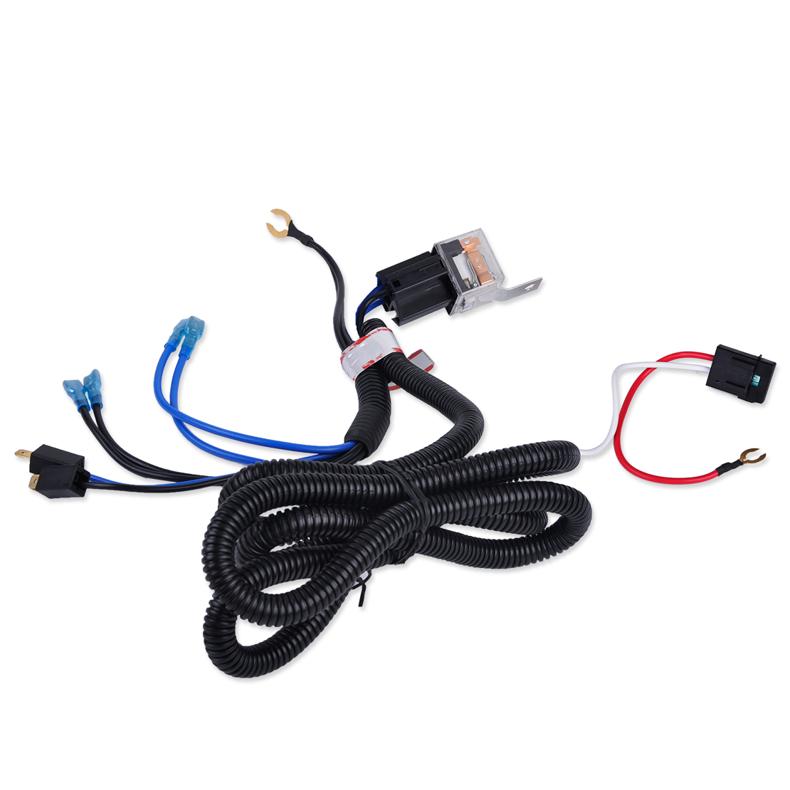 beler new 12v wiring harness relay kit fit for car auto truck grille mount blast tone horn for vw audi ford bmw chevrolet [ 1110 x 1110 Pixel ]