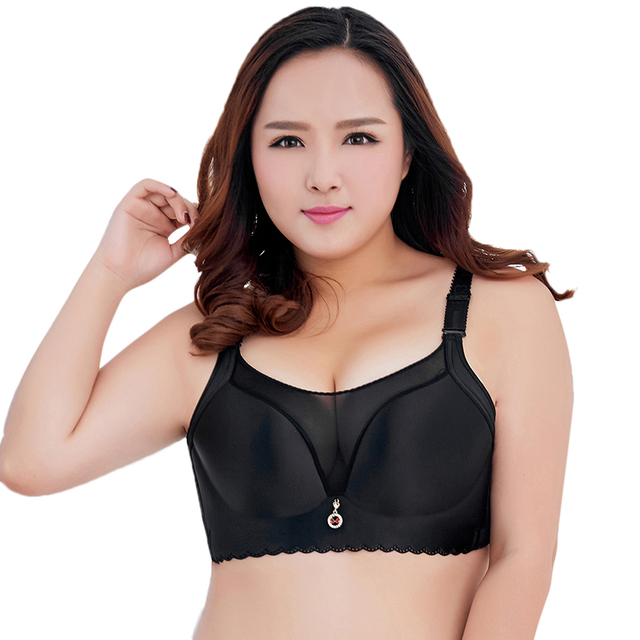 93d48c25ea Anself Women Push Up Bra Wireless Full Coverage Padded Soft Cups Mesh Big  Size Brassiere D E F Cup Ladies BH Plus Size Bra 2019