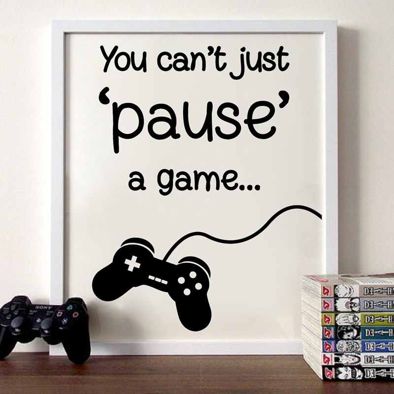 Gaming wall art print