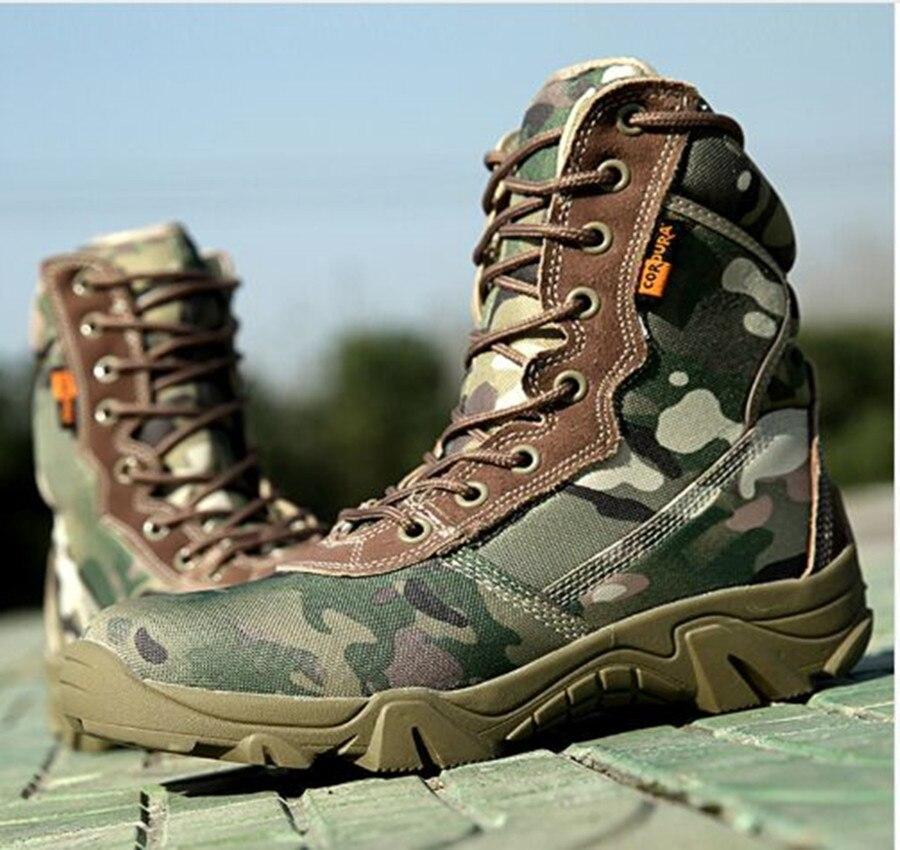 Außen Herbst Winter wasserdicht Armee Männer Ankle Wüste Botas Taktische Militärische Kampf Hoch hohe Stiefel Sport Reise Wandern Schuhe