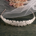 Silver Handmade bridal headband full crystal bridal hairbands vintage wedding hair accessories bridal headpiece Prom Crown