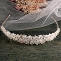 Silver Handmade bridal headband full crystal bridal hairbands vintage wedding hair accessories bridal headpiece Prom Crown