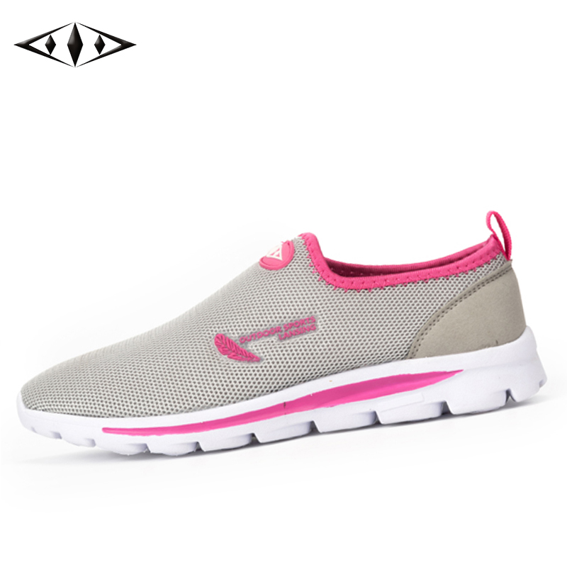 LEMAI 2016 New Light Lady Trainers Air Mesh Walking Shoes Summer Breathable Feminine Outdoor Sport Sneakers fb011-1
