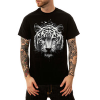 H.A.Sueno 2018 Summer Wear 3D Tiger Printing t shirts hip hop high Street Mens Wear Sleeve plus size black tees for men women /6