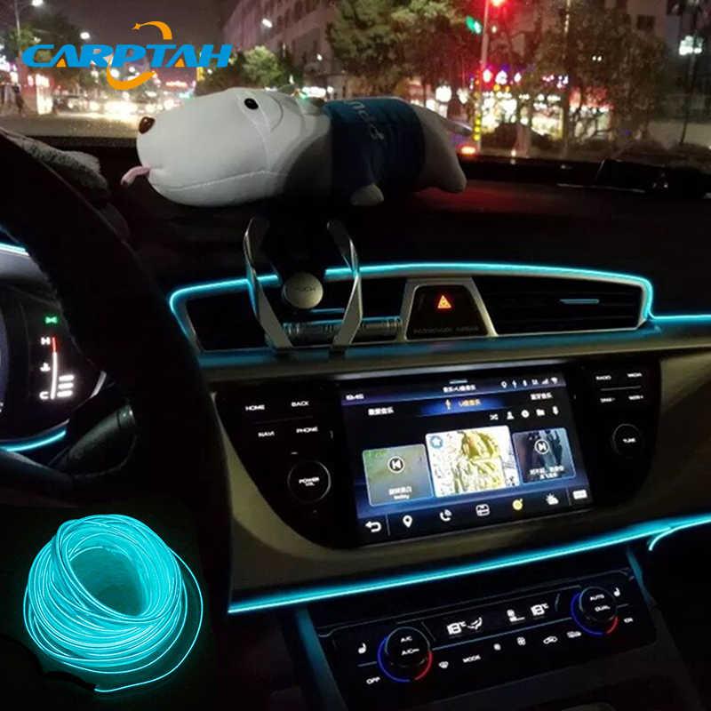 CARPTAH гибкий неоновый светодиод для внутреннего оформления автомобиля огни полосы Moto аксессуар DIY Литье отделка EL холодной линии декоративные лампы