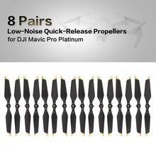 8 Pairs Low-Noise Quick-Release Propeller for DJI Mavic Pro Platinum Replacement Blade Prop Propeller for DJI Mavic Pro Platinum rc car charger for dji mavic pro kit low voltage