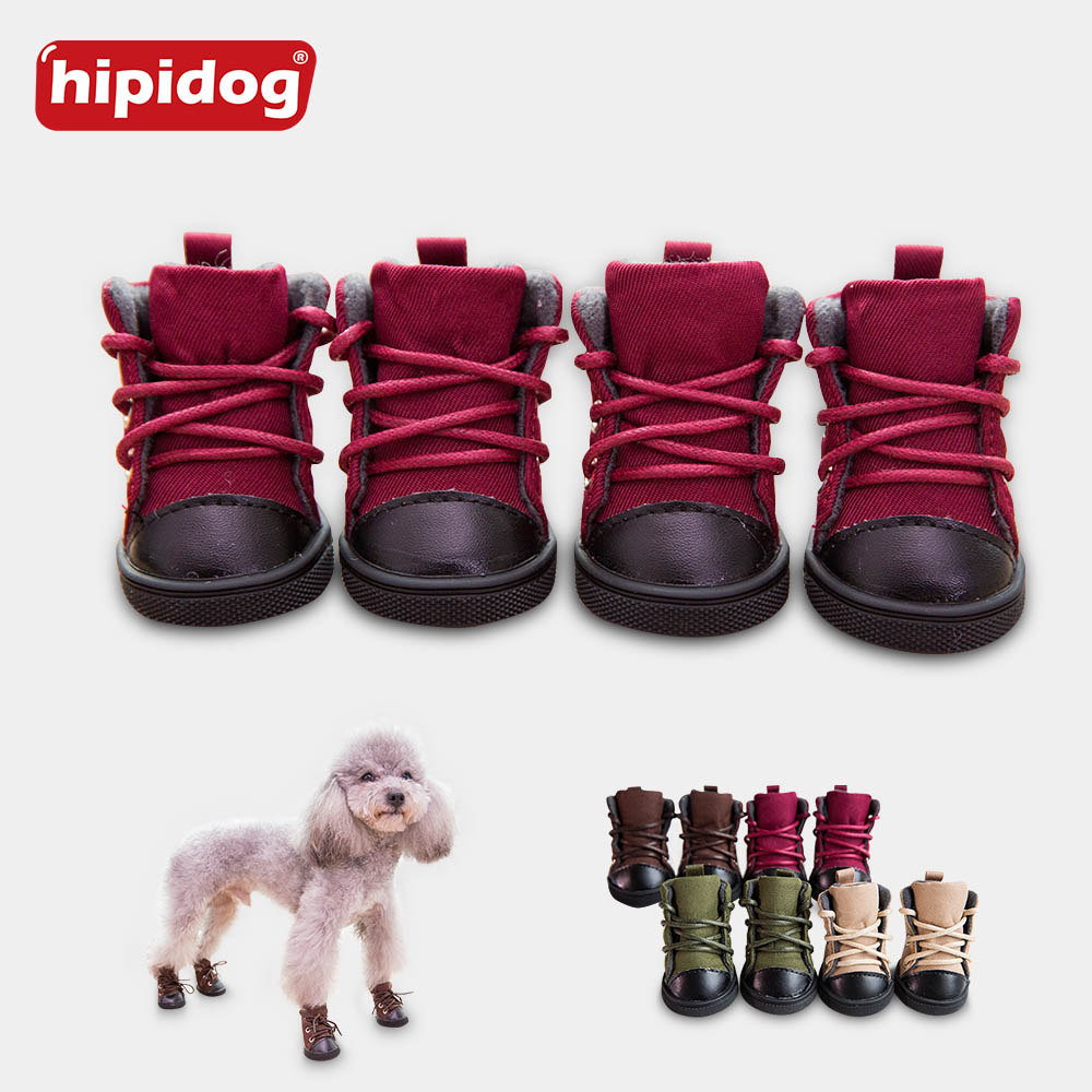 Hipidog Winter Autumn Cat Pet Dog Liberation Shoes Anti Slip Soft Canvas Snow Boots for Teddy Chihuahua Small Big Large Pets Dog Собака