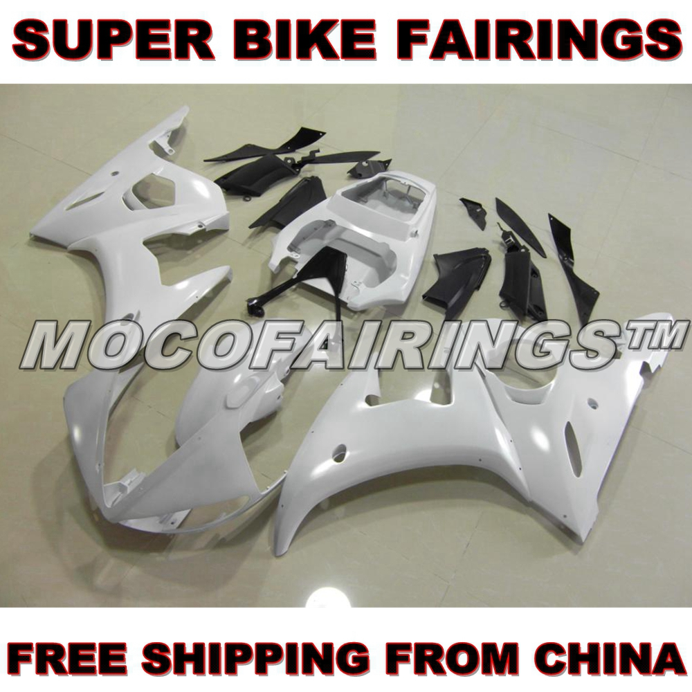 Motorcycle Unpainted ABS Fairing Kit For Yamaha YZF R6 2003 2004 2005 03 04 05 Fairings Kits Front Nose Bodywork Pieces mfs motor motorcycle part front rear brake discs rotor for yamaha yzf r6 2003 2004 2005 yzfr6 03 04 05 gold